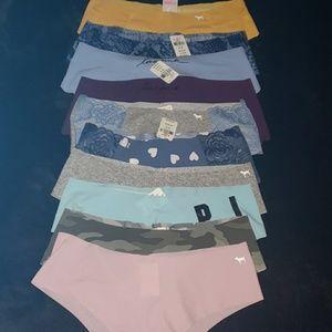 Victoria's Secret PINK panty lot of 10